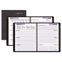 DayMinder Recycled Executive Weekly/Monthly Planner, Black, 6 7/8