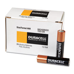 Duracell MN2400B24000 Coppertop Alkaline Batteries, AAA, 24/Box DURMN2400B24000 DUR MN2400B24000