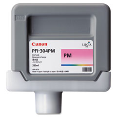 Canon 3854B001AA (PFI-304P) Ink, 330mL, Photo Magenta