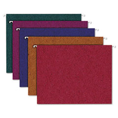 Pendaflex Earthwise Recycled Colored Hanging Folders, 1/5 Tab, Letter, Assorted Colors, 20/Box