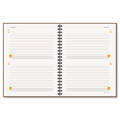 AT-A-GLANCE Two-Days-Per-Page Planning Notebook, Gray, 8 1/2