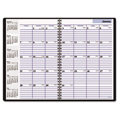 DayMinder Recycled Monthly Academic Planner, Black, 7 7/8