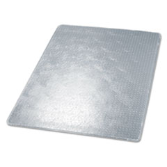 RollaMat Studded Beveled Mat, Medium Pile Carpet, 46w x 60h, Clear