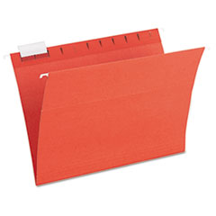 Pendaflex Earthwise Recycled Paper Hanging Folders, 1/5 Tab, Letter, Assorted Colors, 20/Box