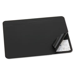 Artistic Hide-Away PVC Desk Pad, 24 x 19, Black