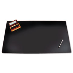 Artistic Westfield Designer Desk Pad w/Decorative Stitching, 38 x 24, Black