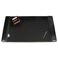 Artistic Westfield Desk Pad w/Flip-Open Side Panels, 38 x 24, Black