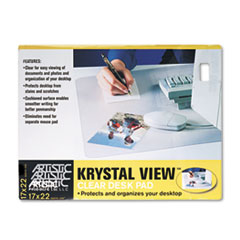 Artistic KrystalView Desk Pad, 22 x 17, Clear