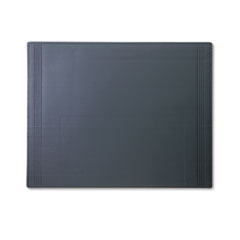Artistic Euro-Pad Vinyl Desk Pad with Embossed Borders, 24 x 19, Black