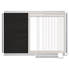 MasterVision In-Out and Notice Board, 36x24, Silver Frame