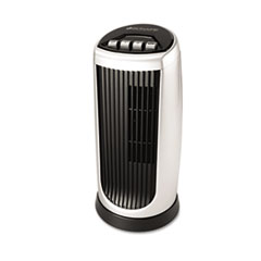 Bionaire Personal Space Mini Tower Fan, Two-Speed, Black/Silver
