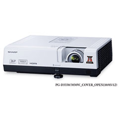 Sharp PG-D3050W WXGA DLP Multimedia Projector, 3000 Lumens