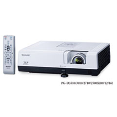 Sharp PG-D3010XL Multimedia Projector, 3000 Lumens, 1024 x 768 pixels, 1.2x Zoom