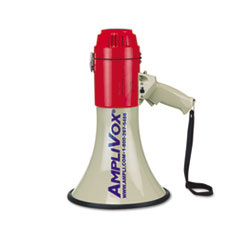 AmpliVox MityMeg Piezo Dynamic Megaphone, 25W, 1 Mile Range