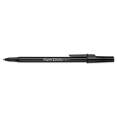 Paper Mate Ballpoint Stick Pen, Black Ink, Medium, Dozen