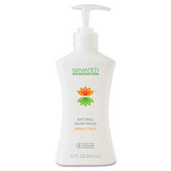 Seventh Generation Hand Soap, Fresh Citrus, 12oz Pump Bottle