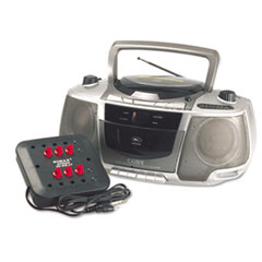 AmpliVox Six-Station Listening Center/Boombox, Gray