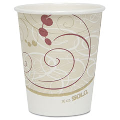 SOLO Cup Company Hot Cups, Symphony Design, 10oz, 50/Pack
