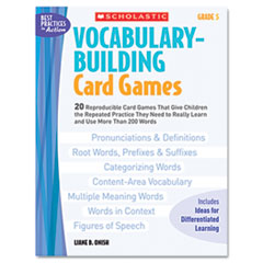 SHS 0439578167 Scholastic Vocabulary Building Card Games SHS0439578167