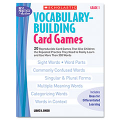 SHS 0439554640 Scholastic Vocabulary Building Card Games SHS0439554640