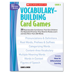 SHS 0439578175 Scholastic Vocabulary Building Card Games SHS0439578175
