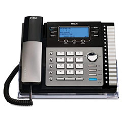 RCA 25423RE1 RCA® ViSYS™ Four-Line Corded Expandable Business Phone System RCA25423RE1
