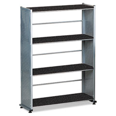 Mayline 994ANT Eastwinds Accent Shelving, Four Shelves, 31-1/4w x 11d x 44-1/2h, Anthracite MLN994ANT MLN 994ANT