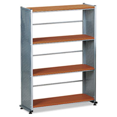 Mayline 994MEC Eastwinds Accent Shelving, Four Shelves, 31-1/4w x 11d x 44-1/2h, Medium Cherry MLN994MEC MLN 994MEC