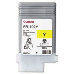 Canon 0898B001(PFI-102) Ink, 130 mL, Yellow