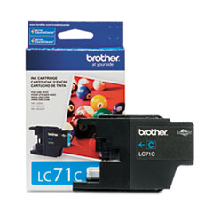 Brother LC71C (LC-71C) Innobella Ink, 300 Page-Yield, Cyan
