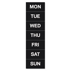 MasterVision Calendar Magnetic Tape, Days Of The Week, Black/White, 2