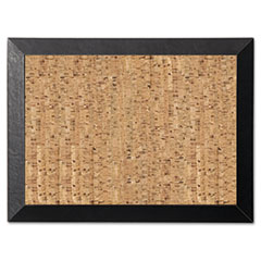 Mastervision Natural Cork Bulletin Board, 24x36, Cork/Black