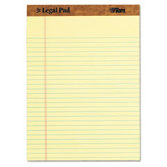 TOPS The Legal Pad Legal Rule Perforated Pads, Letter Size, Canary, 50 Sht Pds, Dozen