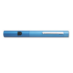 Quartet Class Three Laser Pointer w/Pocket Clip, Projects 500 Yards, Metallic Blue