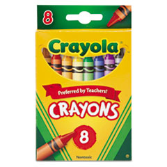 Crayola® CRAYON CLSC COLOR 8ST AST Classic Color Crayons, Peggable Retail Pack, Peggable Retail Pack, 8 Colors