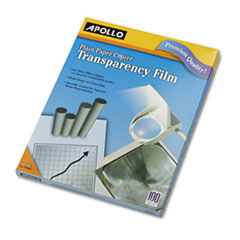 Apollo Plain Paper Copier Transparency Film, Letter, Clear, 100/Box