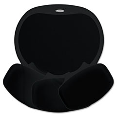 Fellowes Easy Glide Gel Mouse Pad w/Wrist Rest, 10 x 12, Black/Black