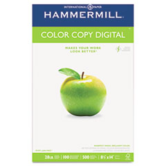 Hammermill Color Copy Paper, 100 Brightness, 28lb, 8-1/2 x 14, Photo White, 500/Ream