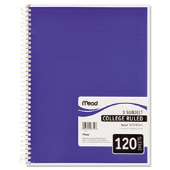 Mead Spiral Bound Notebook, Perforated, College Rule, 8 1/2 x 11, White, 120 Sheets