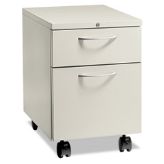 Flagship Mobile Box/File Pedestal, Arch Pull, 22-7/8&quot; Deep, Light Gray