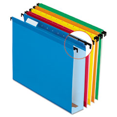 Pendaflex SureHook Poly Laminate Hanging Folders, Letter, Assorted, Two Inch Expansion, 20/Box