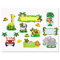 CDP 110152 Carson-Dellosa Publishing Jungle Safari Bulletin Board Set CDP110152