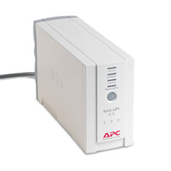 APC Back-UPS CS Battery Backup System Six-Outlet 500 Volt-Amps