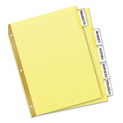 Avery WorkSaver Big Tab Reinforced Dividers w/Clear Tabs, 5-Tab, Letter, Buff