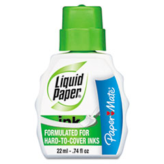 Paper Mate Liquid Paper Pen & Ink Correction Fluid, 22 ml Bottle, White