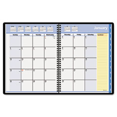 AT-A-GLANCE QuickNotes Recycled Monthly Planner, Jan.-Dec., Black, 8 1/4
