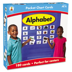 Alphabet Cards for Pocket Chart, 4 x 2 3/4, 102 Cards, Ages 4-5