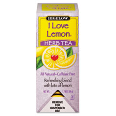Bigelow Single Flavor Tea, I Love Lemon, 28 Bags/Box