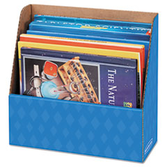 Folder Holder Storage Box, 11 3/4 x 4 1/2 x 11, Blue