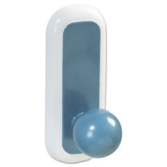 Command Designer Ball Hooks, Plastic, Blue, 2 Hooks with 4 Adhesive Strips per Pack